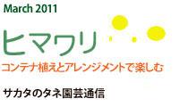 March 2011 ヒマワリ コンテナ植えとアレンジメントで楽しむ サカタのタネ園芸通信