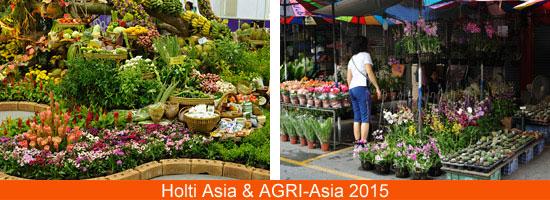 Holti Asiaの展示とタイの花屋さん